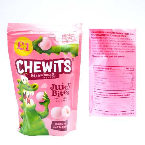 Chewits Juicy Bites Strawberry145g £1 Bag