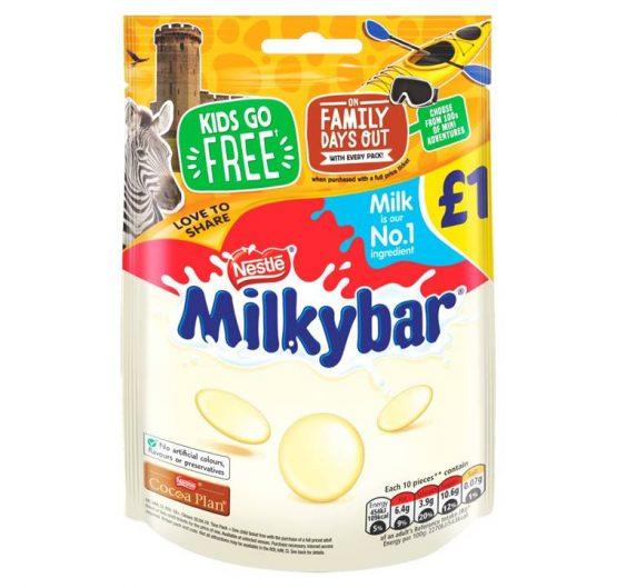 Chocolate Milkybar 85 g £1 Hanging Bag 12 Per Box