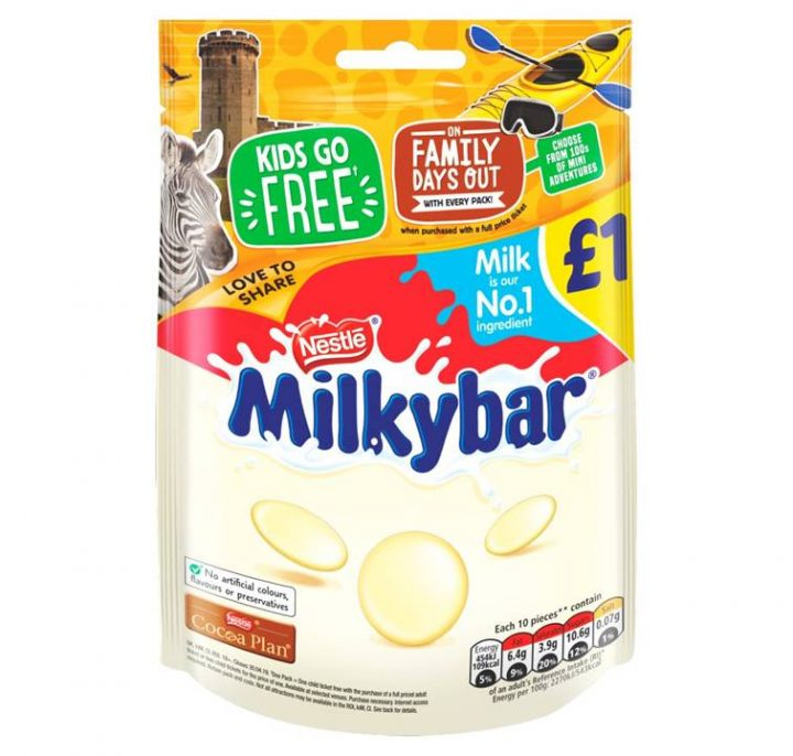 Chocolate Milkybar 85 g £1 Hanging Bag 12 Per Box