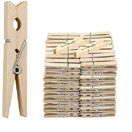 Cloth Pegs Wooden 30ct by Kingfisher