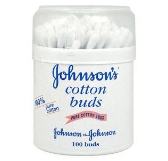 Cotton Buds J&J 100% Pure Cotton 100 ct 6/Box