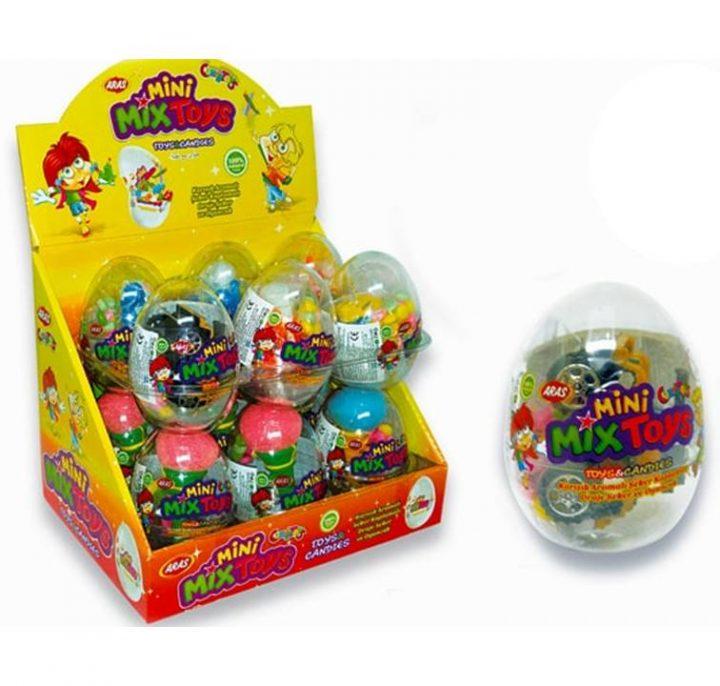 Big Collection Egg Mini Mixed Toys 12 Per Box
