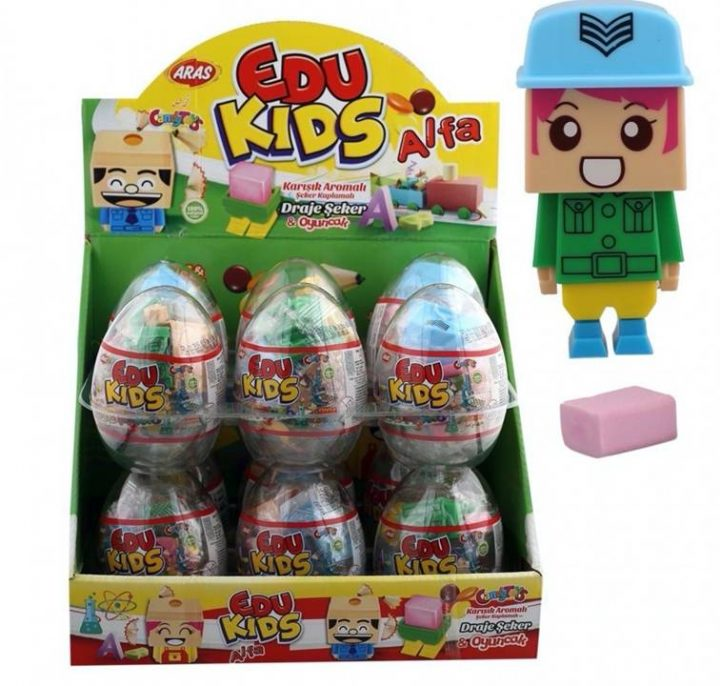 Big Collection Egg Edu Kids 12 Per Box