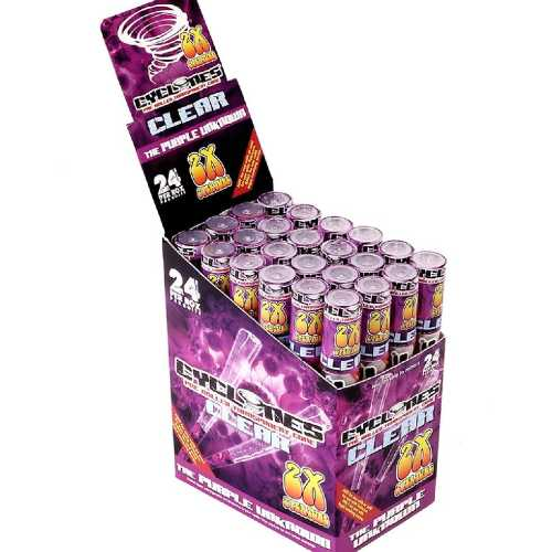 Cyclones Clear Pre Rolled Cone Grape