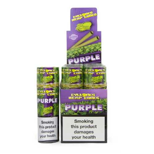 Cyclones Hemp Wraps Purpal 24/Box