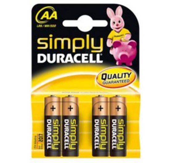 Batteries Duracell Basic AA-4 ( MN1500- LR6) 10/Box