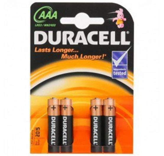 Batteries Duracell Basic AAA-4 ( MN2400 - LR03) 10/Box