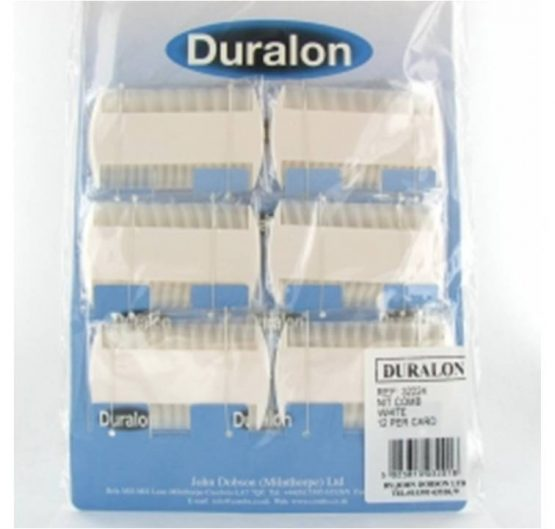 Duralon Nit Combs Black & White 12/Card