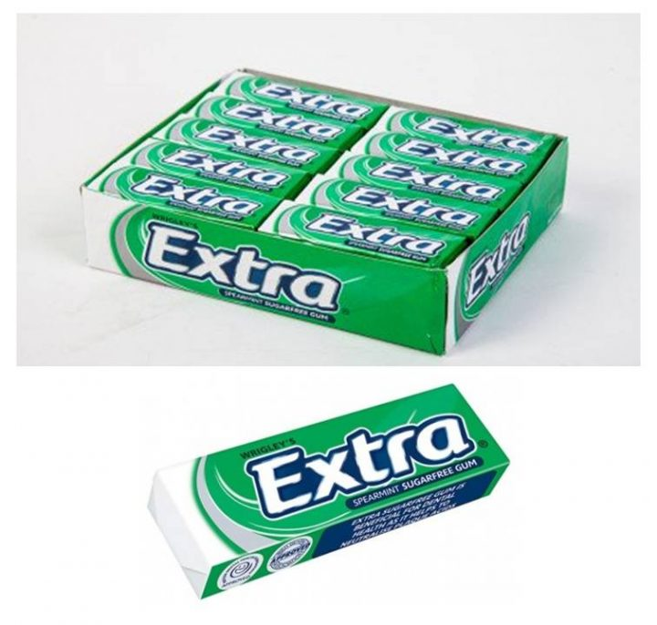 Chewing Gum Wrigley's Extra Spearmint (Green) 14g 30/Box