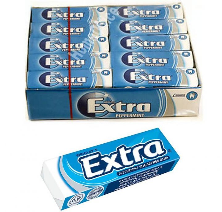 Chewing Gum Wrigley's Extra Peppermint (Blue) 14g 30/Box