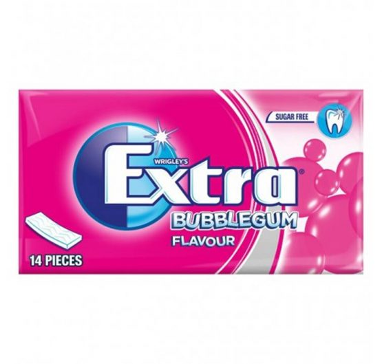 Bubble Gum Extra Soft Chew Bubblegum (Pink) 14 pcs 27g 12/Box
