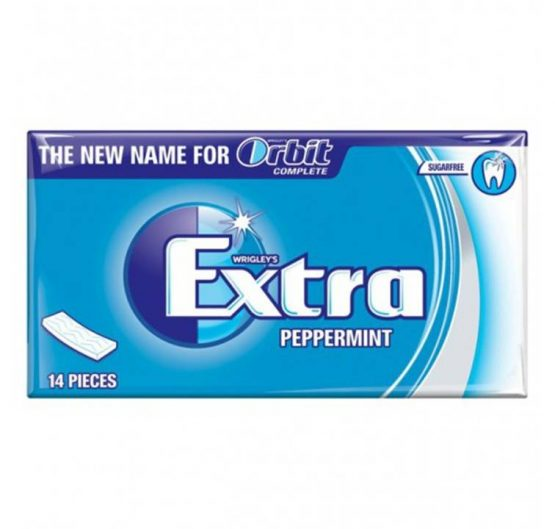 Bubble Gum Extra Soft Chew Peppermint (Blue) 14 pcs 27g 12/Box