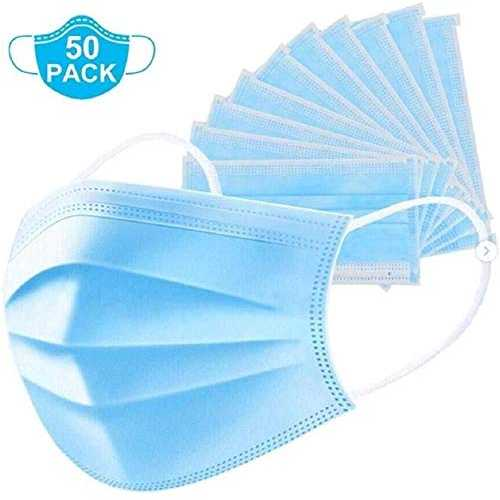 Face Masks 3 Ply Disposable X 50