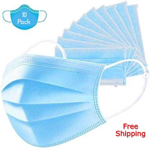 Face Masks 3 Ply Disposable X 5