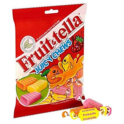 Chew Fruit-tella Bags 135g Juicy Strawberry X 12