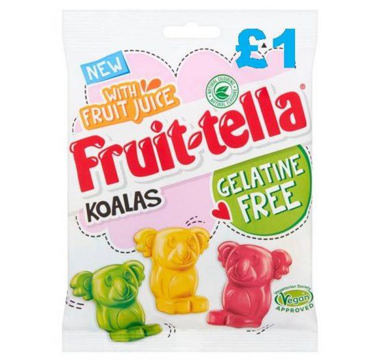 Chew Fruit-tella Bags 120g Gelatine Free Koalas (Vegan) X 12