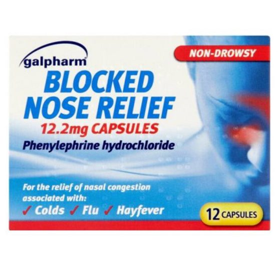 Medicine Blocked Nose Relief Capsules 12.2g 10/Box