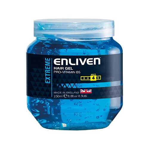Hair Gel Enliven Extreme Blue 250ml X 12