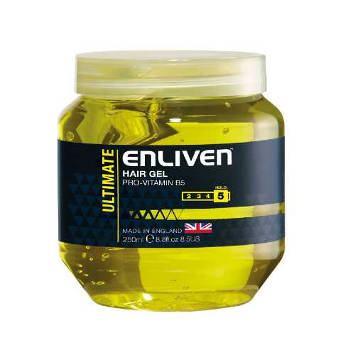 Hair Gel Enliven Ultimate Yellow 250ml X 12