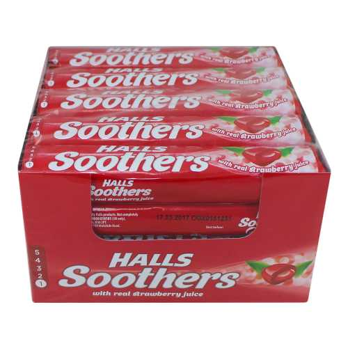 Halls Soothers Strawberry Juice X 20