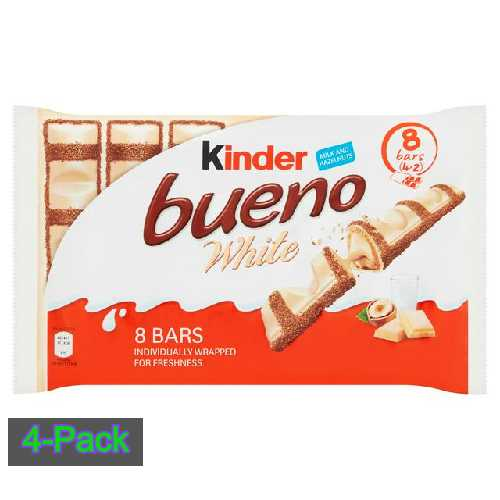 Chocolate Kinder Bueno White 8 Bars 156g (4 x 2) X 5