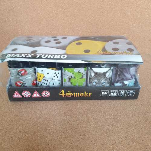 Lighters 4 Smoke Maxx Turbo Windproof Dice X 30