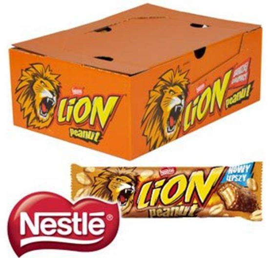Chocolate Lion Bar Peanut 43g 40/Box