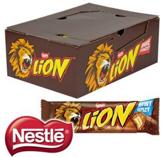 Chocolate Lion Bar Regular 43g 40/Box