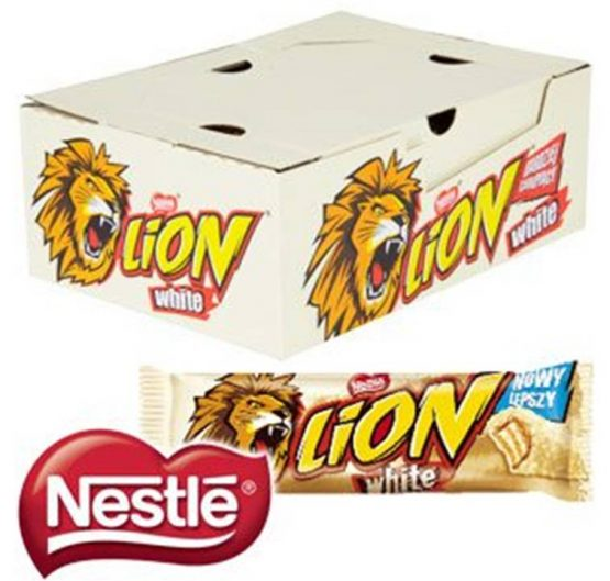 Chocolate Lion Bar White 43g 40/Box
