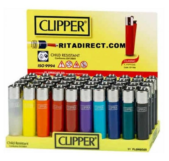 Lighters Clipper Classic Large The Original Shape 40/Tray