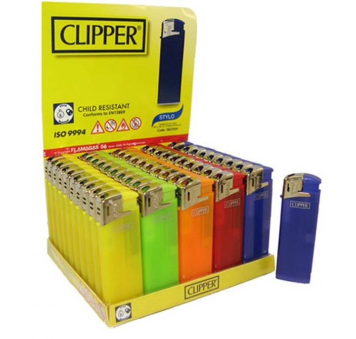 Lighters Clipper Fit Medium Electronic 50/Box