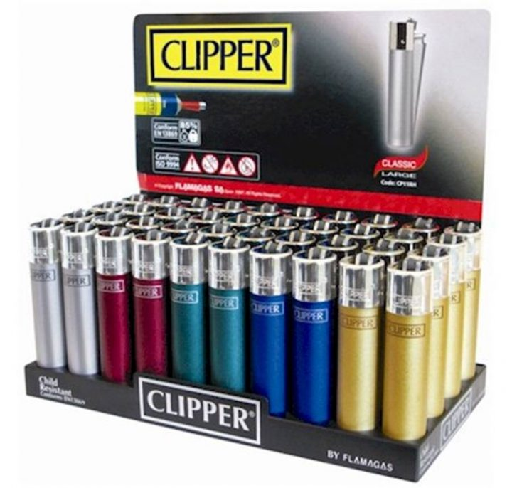 Lighters Clipper Metallic Large The Original Shape