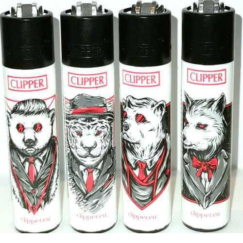 Lighters Clipper Printed Large Mafia Mix-4