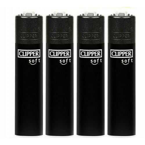 Lighters Clipper Soft Touch Black X 40