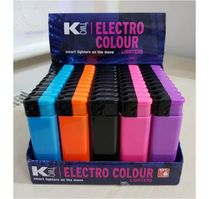 Lighters KTwo Electro Color 50 Per Tray