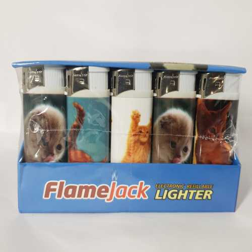 Lighters Electronic Cats Print X 50