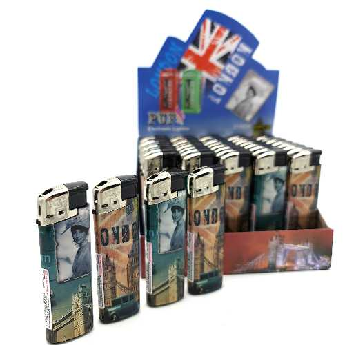 Lighters Love London Electronic Printed X 50