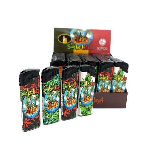 Lighters The Smoke Island Electronic Printed X 50
