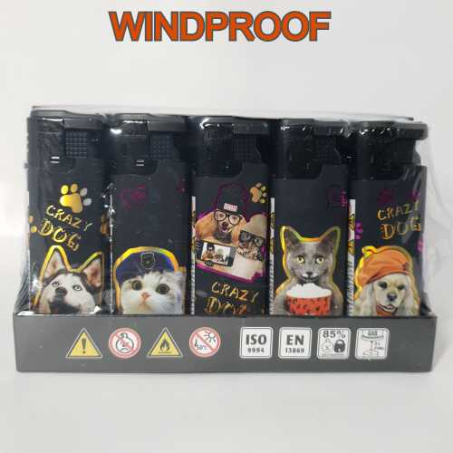 Lighters Windproof Crazy Dogs X 25