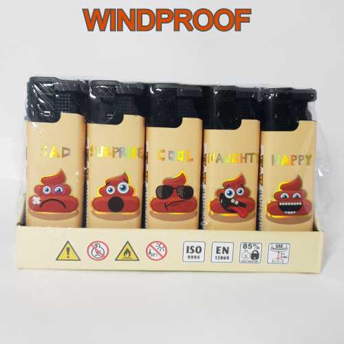 Lighters Windproof Poo with Phrases X 25