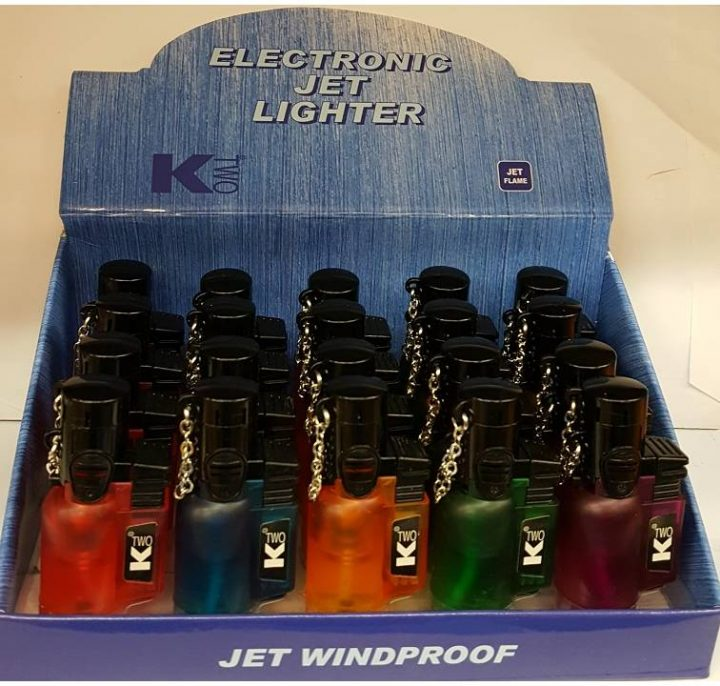Lighters K Two Electronic Jet Lighters 20 Per Box