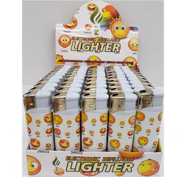 Lighter Puf Electronic Emoji X 50