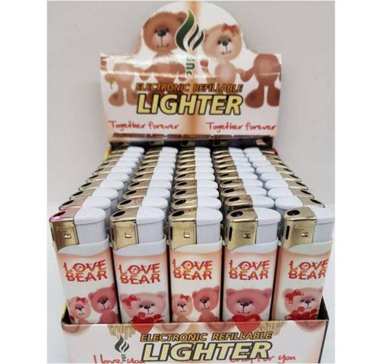 Lighter Puf Electronic LOVE BEAR X 50