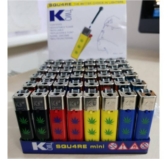 Lighters KTwo Squ4re Mini Refillable 48 Per Tray