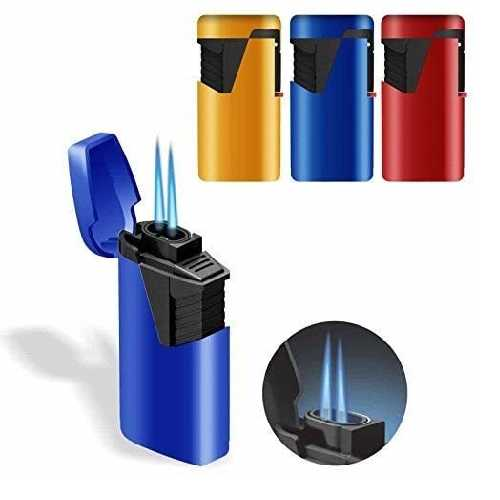 Lighters Zenga Double Jet Flame Lighter ZL-9