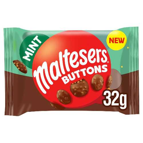 Chocolate Maltesers Buttons Mint 32g