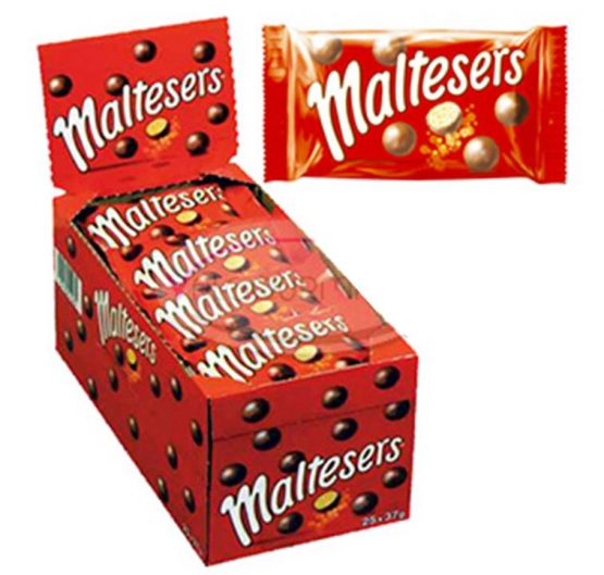 Chocolate Maltesers 37g Bags 25 Per Box
