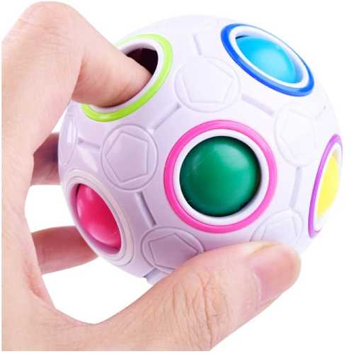 Magic Ball Puzzle Rainbow Ball, Spherical Cube Twisty Toy Kids Gifts