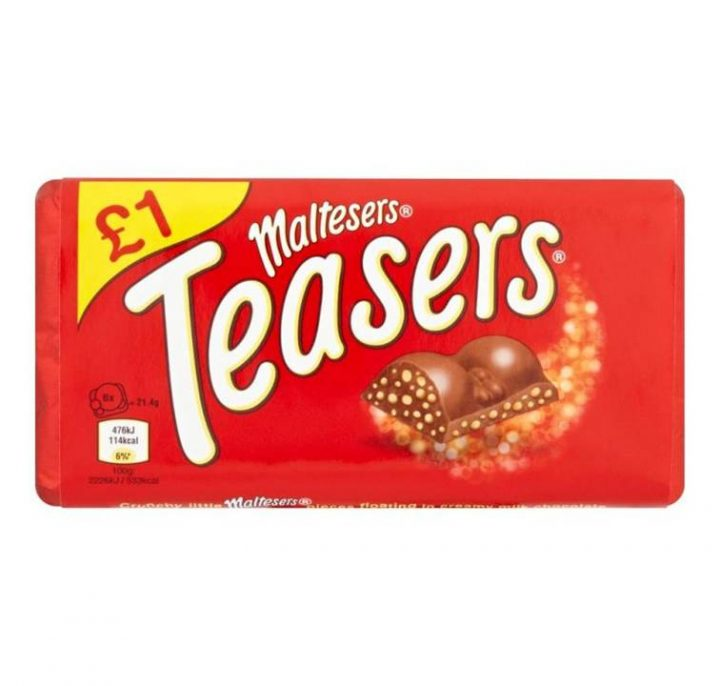 Chocolate Maltesers 100 g Teasers Bar £1