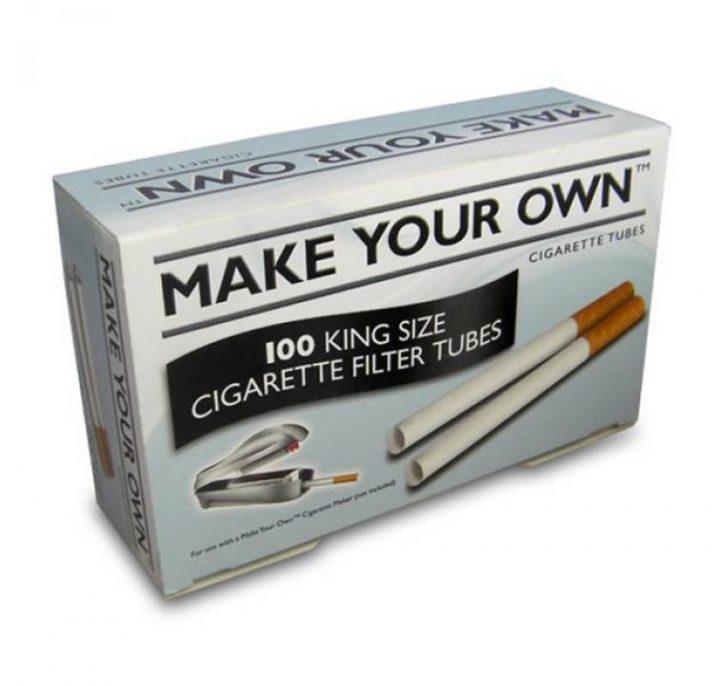 Filter Tubes Make Your Own King Size Tubes 100 ct 5/Box